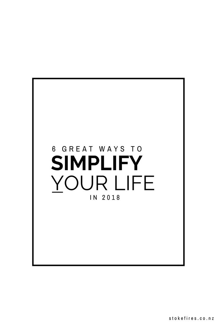 Minimalist advice for simple living. simplify your life
