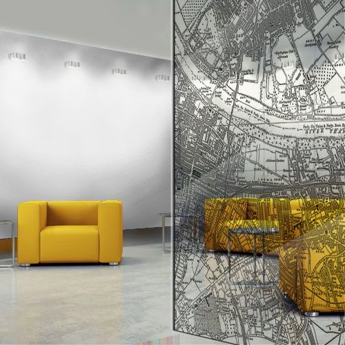 Oh man, the concrete floor, the translucent map, the yellow chairs. This may be…