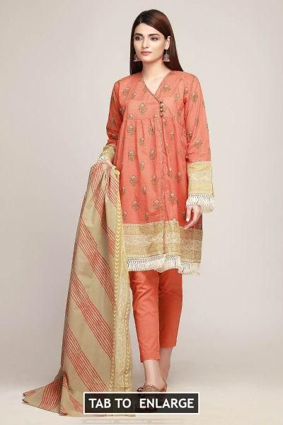 102204f5c9 Khaadi Lawn Volume 1 Ar19126 Orange 2019  #KhaadiLawnVolume1Ar19126Orange2019 #KhaadiLawn2019Volume1 Khaadi Ar19126  Orange #+923452355358 #couture #dresses ...