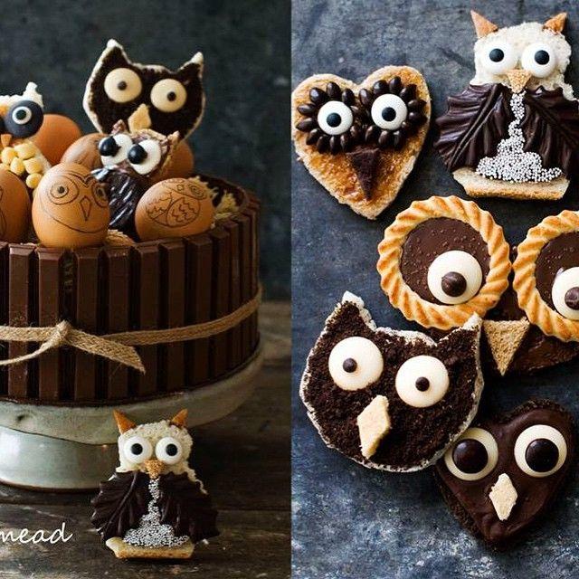 Owl fun. Make it a party. #matthewmeadstyle #owls #family #baking #vintagehalloween