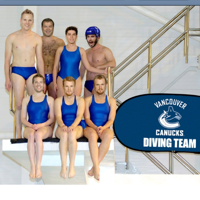 Vancouver Canucks diving team.