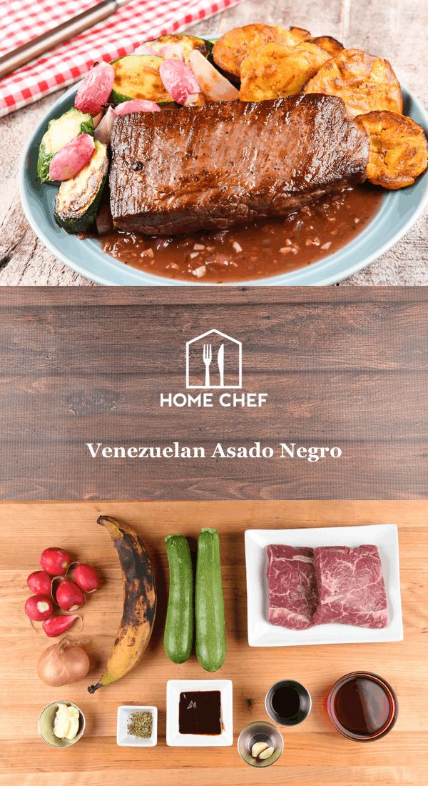 Venezuelan Asado Negro with roasted vegetables and tostones
