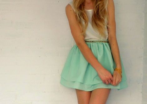 Outfit mint skirt