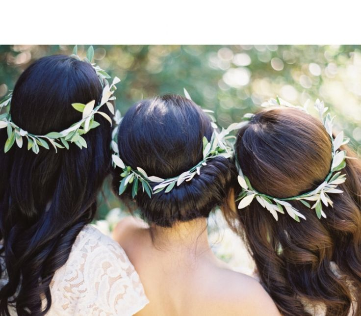 bridal crown - bridesmaid crown wedding hair accessories - greenery crown - wedding crown - flower crown #rusticweddinginspiration