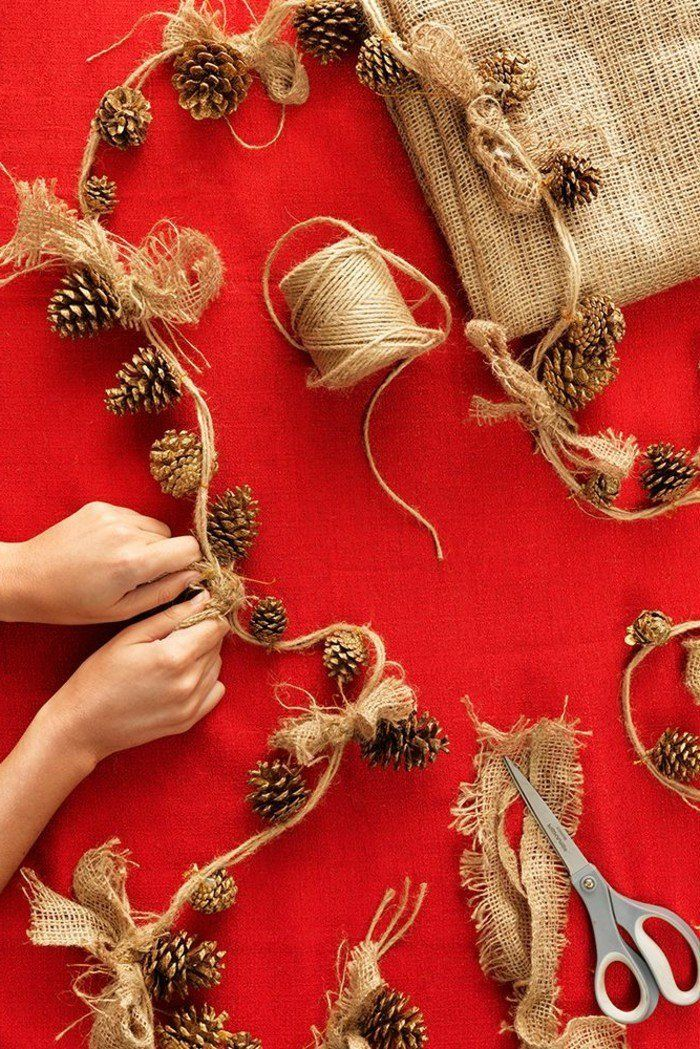 deco noel exterieur avec guirlande de Noël, decoration de noel
