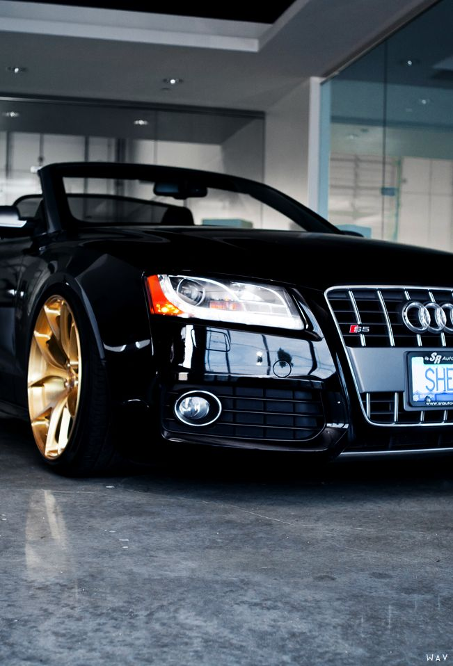 Audi S5 Cabrio on a set of Monaco Gold PUR 4OUR's |Source