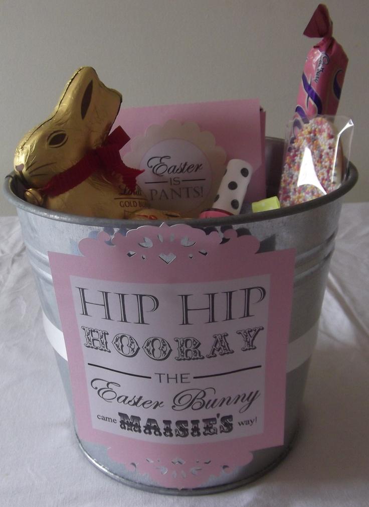 21 best boxed gifts images on pinterest gift baskets gift girls easter hamper easter hamperseaster basketsgift negle Image collections