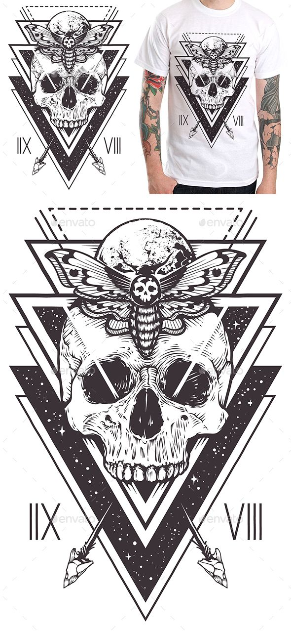 Skull Sacred Design II - Designs T-Shirts