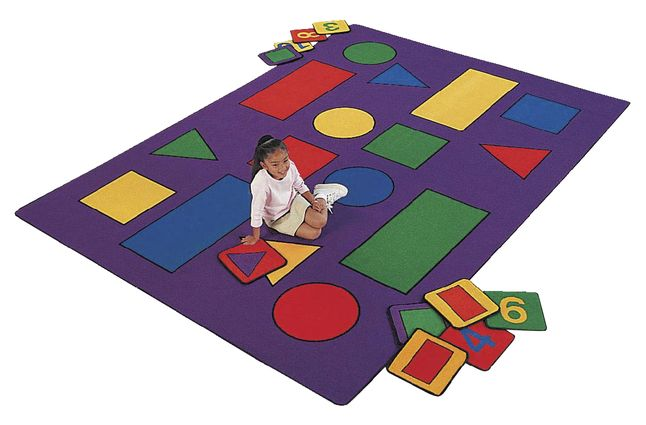 Carpets For Kids Shapes And Numbers Carpet Squares 12 X 12 Inches Set Of 20 Carpets For Kids Classroom Rug Kids Rugs