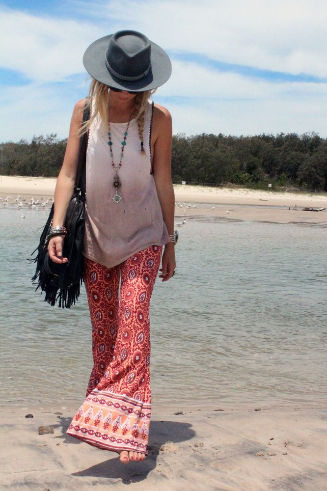 Just got some printed bell bottom pants a lot like these. So excited!!! :) love them