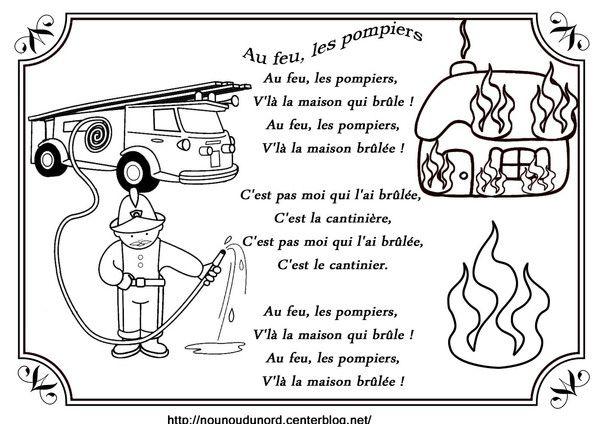 comptine au feu les pompiers illustrée par nounoudunord. Imprimez le coloriage  cliquez :.acrobat.com. Liste de mes comptines : -comptines-a-colorier- ************************ .je vous demande ...