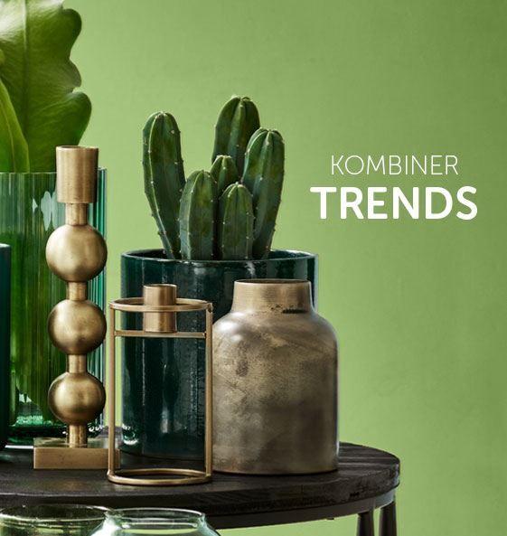 Du kan nemt kombinere trends f.eks. messing med planter og glas. Kun fantasien sætter grænser. Få meget mere inspiration på inspiration.dk  #inspirationdk #BotanicLiving #Indretmedplanter #planter #inspiration #InspirationOnline