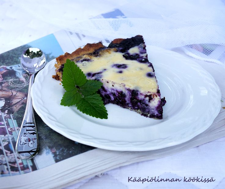 Kääpiölinnan köökissä: Oh, Blueberry Pie! - ihana, helppo mustikka-mascarponepiirakka