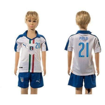 Italien Trøje Børn 2016 #Pirlo 21 Udebanetrøje Kort ærmer.199,62KR.shirtshopservice@gmail.com