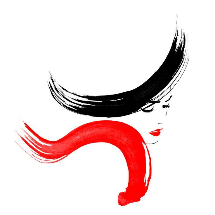 Rouge Et Noir by Judith van den Hoek. Fashion illustration