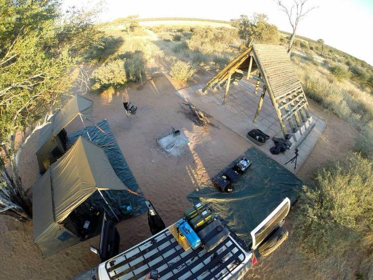 Camping in Mabuasehube, Kgalagadi