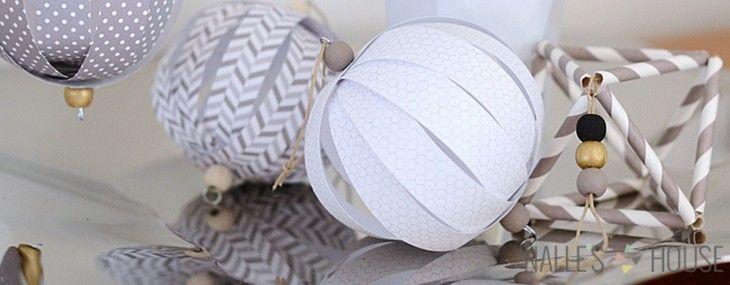 Homemade Paper Ball Ornaments | handmade ornament no. 11