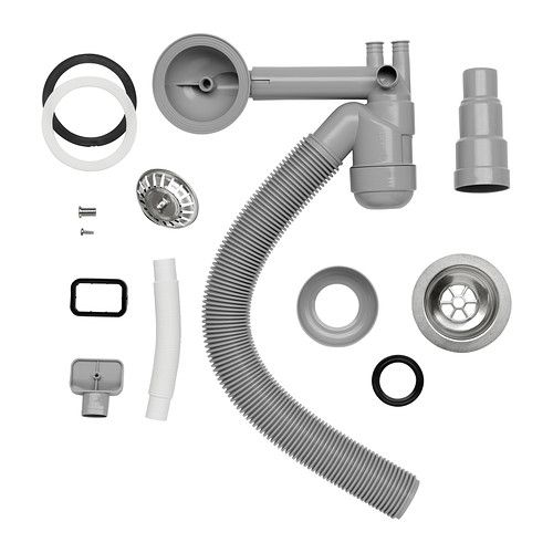 ATLANT Bodemventiel/sifon voor 1 spoelbak IKEA