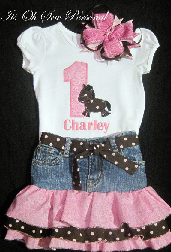 Cowgirl birthday outfit by Itsohsewpersonal on Etsy