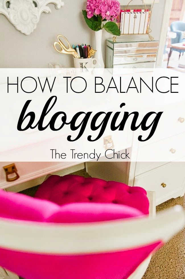 How To Balance Blogging