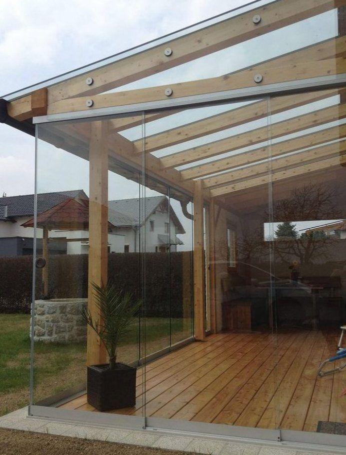 Holzkonstruktion Glas In 2020 Pergola Schatten Glasschiebetur Hintergarten
