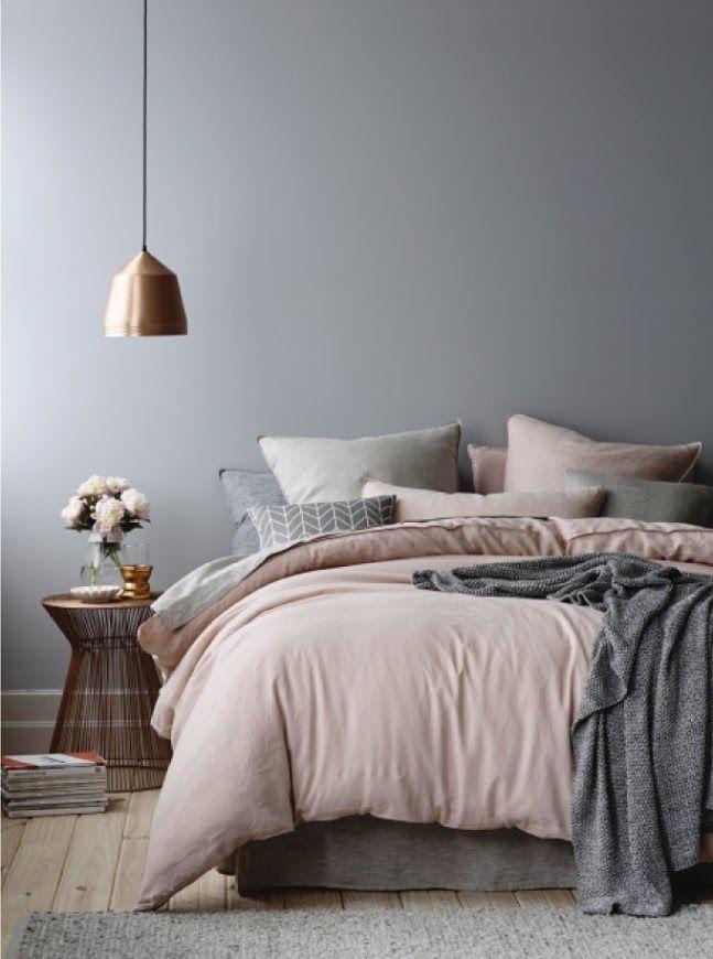 die besten 25+ graues bett ideen auf pinterest - Beispiele Modernes Wohnen Schlafzimmer Boxspringbett Leder