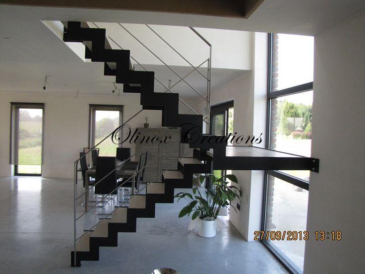 Les 25 meilleures id es concernant escalier 2 quart tournant sur pinterest - Les types d escaliers en architecture ...