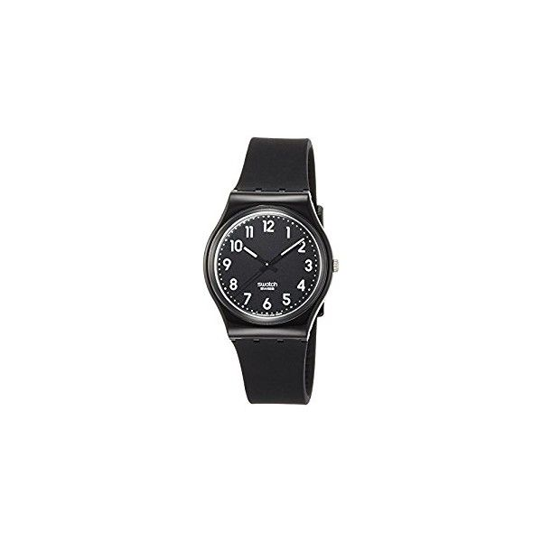 Swatch Black Suit Black Dial Ladies Watch (508.500 IDR) ❤ liked on Polyvore featuring jewelry, watches, swatch jewelry, quartz movement watches, bezel watches, dial watches and swatch wrist watch