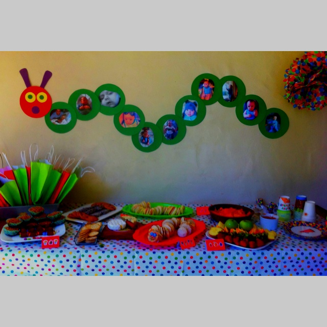 The Very Hungry Caterpillar, party spread :)