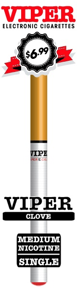 Clove Soft-Tip Disposable E-Cig From Viper Electronic Cigarettes.