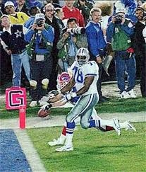 Beebe and Leon Lett. In Super Bowl XXVII Leon Lett picked up a fumble and was ready to score when Don Beebe knocked out of his hand. A Super Bowl monent we will never forget. Hustle play.