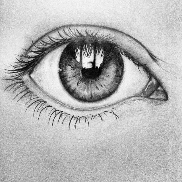 Eye see you pencil drawing realistic danielle heim freelance graphic design illustrator