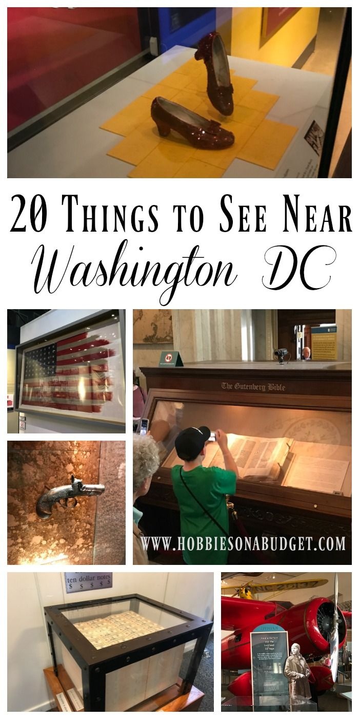 20 Things to See Near Washington DC!  Ruby Slippers, Mohammad Ali's boxing gloves, Washington's Dentures, Lincoln's Hat, The flag from the famous Iwo Jima monument, the derringer that killed President Lincoln, Thomas Jefferson's writing desk…. the list go