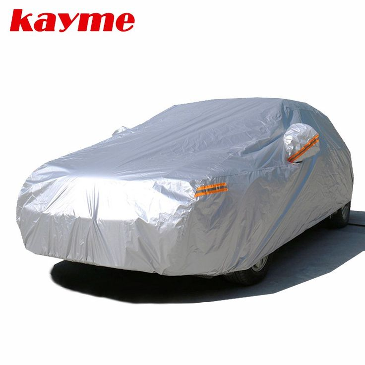 Big sale US $31.97  Kayme waterproof car covers outdoor sun protection cover for car reflector dust rain snow protective suv sedan hatchback full s