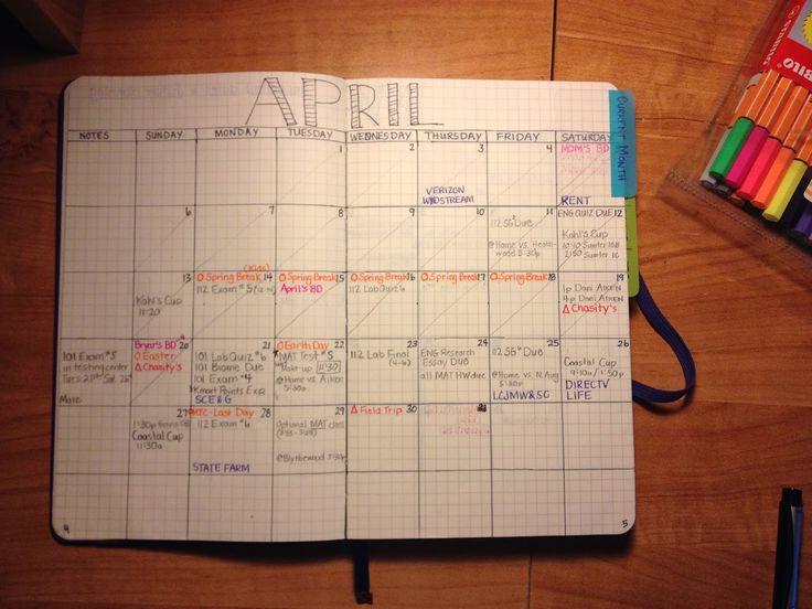 Bullet Journal Monthly Calendar- Future planning solved!