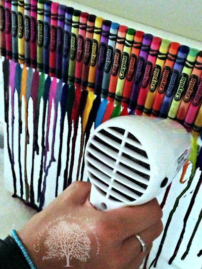 Crayon Art {simple beautiful process art for kids}