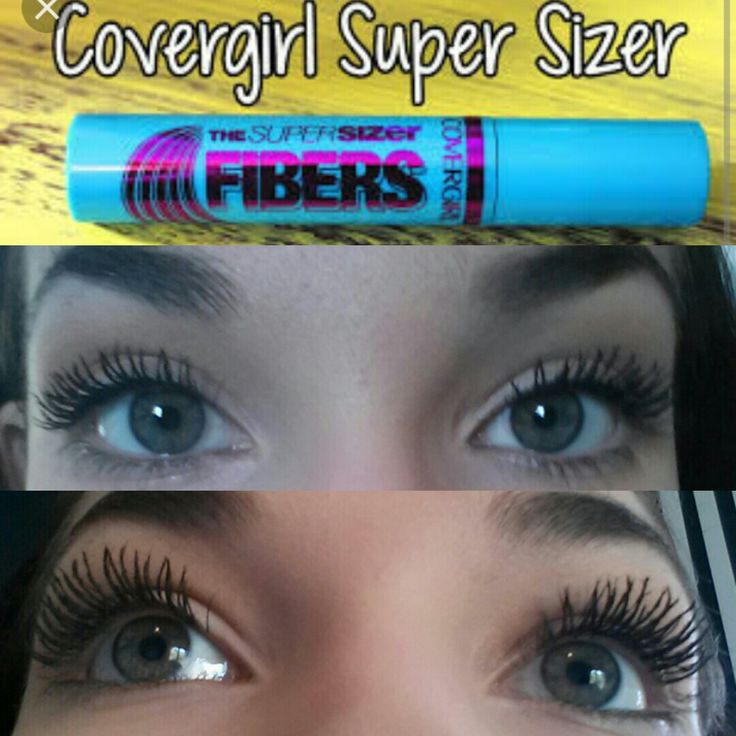 Best mascara from the drugstore! Covergirl super sizer fibers.  Looking for lashes that look like falsies? -Look no further.   #covergirl