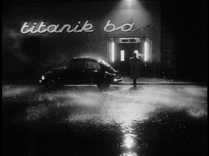 Film still from Kárhozat [Damntaion], 1988, directed by Béla Tarr
