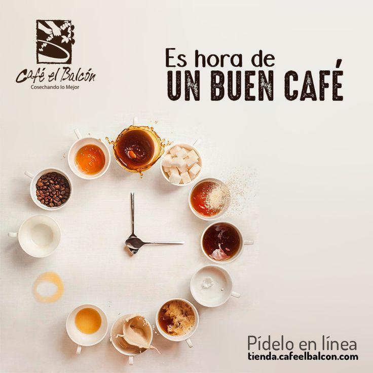 Siempre es hora de un buen café. Pídelo en línea tienda.cafeelbalcon.com #mejorunbuencafe #cafeelbalcon #cafecolombiano #antioquia