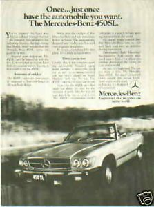1975-MERCEDES-BENZ-450SL-ORIGINAL-AD