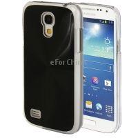 Матовый Текстура Металла Паста Кожи Пластиковый Корпус Мобильного Телефона для Samsung Galaxy S4 Mini/I9190 Черный Розничная Свободная доставка