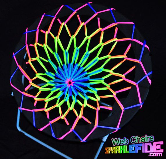 UV Lotus Web Chair by SparkleFide on Etsy, $125.00