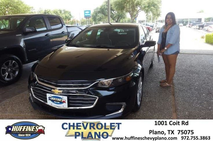 Helping Ms. Maldonado get into the Malibu she needed after getting into a wreck.  https://deliverymaxx.com/DealerReviews.aspx?DealerCode=NMCL  #Malibu #LT #Black #Leather #HuffinesChevroletPlano