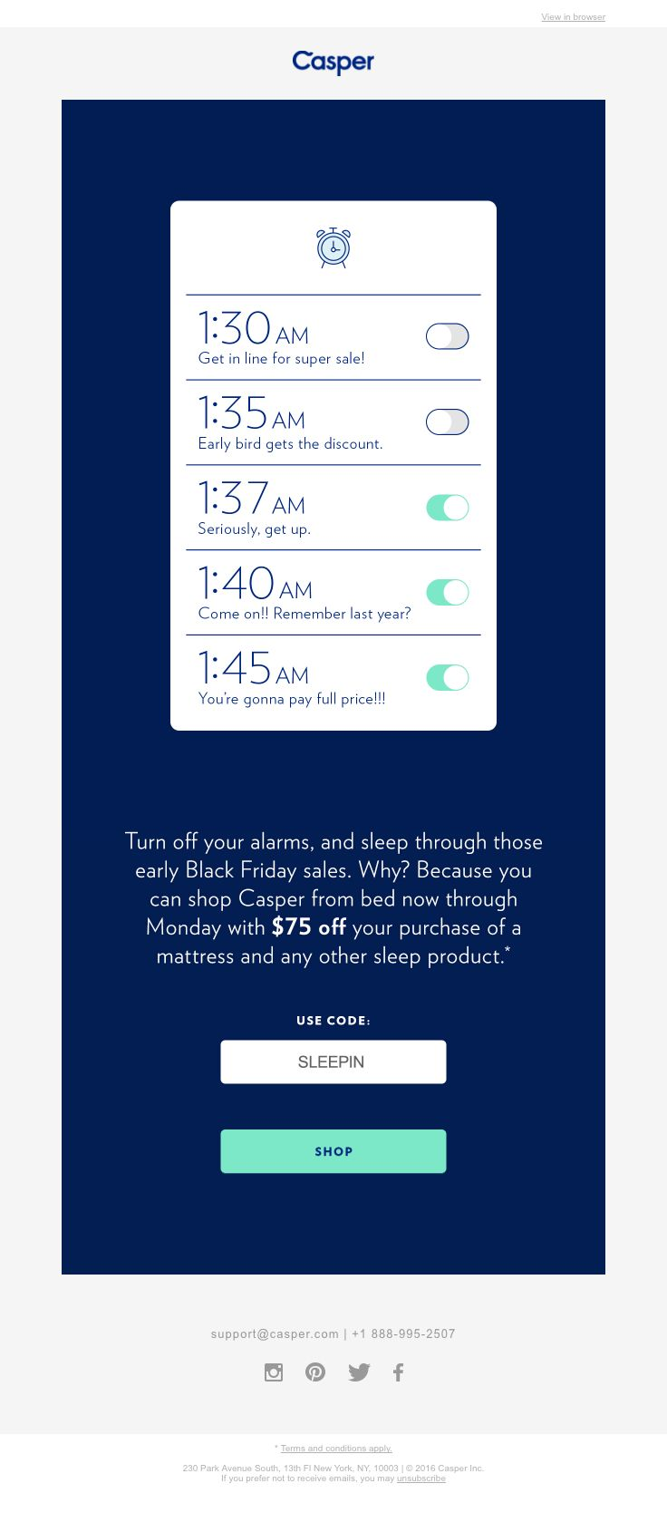 Blue apron unsubscribe mail -  Caspersleep Sent This Email With The Subject Line Snooze Through The Sales