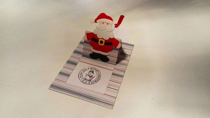 Pop up slider card met kerstman