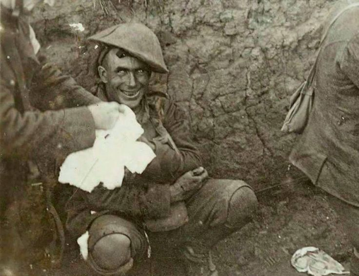 Shell shocked soldier, 1916.