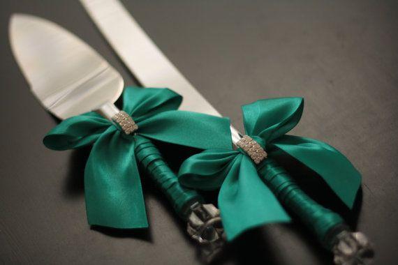 Wedding Guest Book Emerald Green Ring Bearer by AlexEmotions