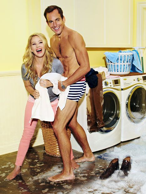 "Christina Applegate and Will Arnett in ""Up All Night""-Check out Wil Arnett's ABS!!!!"
