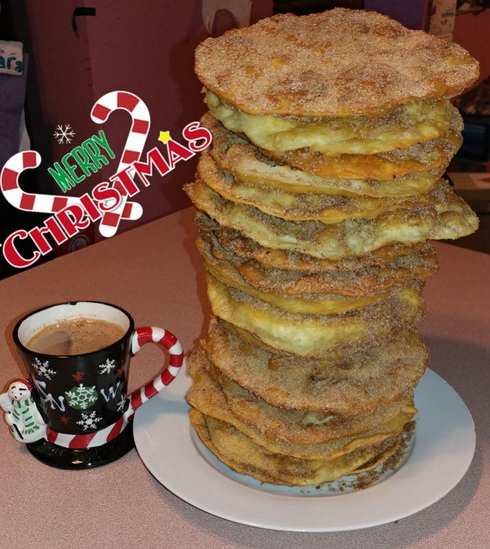 Buñuelos Mexicanos   3 cups flour   1 tablespoon sugar   2 teaspoons baking powder   1/2 teaspoon salt   1 cup milk   1 egg   2 tablespoon...