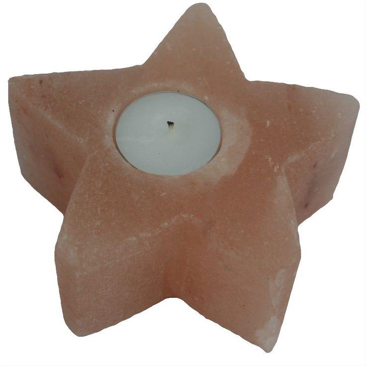 Himilayan Salt Star Candle Holder